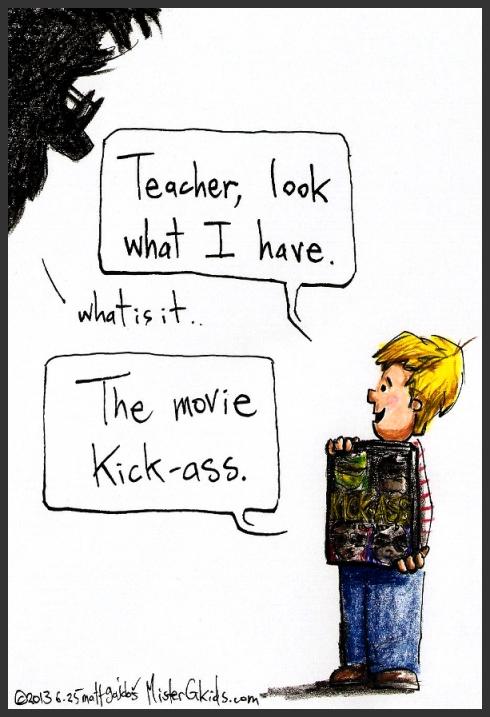 Kids bring the craziest $#! to school